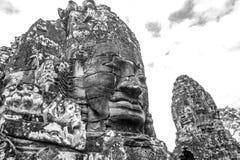 Сторона высекаенная в утесе в Angkor Wat Стоковые Фотографии RF