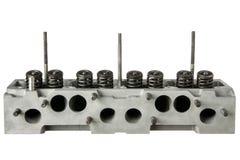 Сторона вытыхания головки цилиндра двигателя автомобиля Стоковая Фотография RF