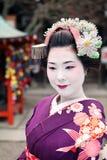 Сторона гейши стоковое фото rf