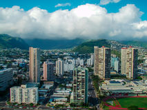 Сторона горы острова городская Стоковая Фотография