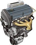 сторона двигателя левая иллюстрация вектора