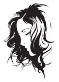 Сторона девушки красотки Стоковое фото RF