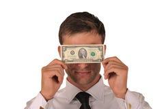 сторона доллара кредитки Стоковые Изображения RF