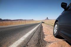 сторона дороги автомобиля Стоковое фото RF