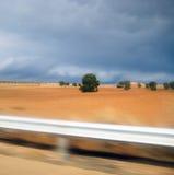 сторона дороги ландшафта Стоковое Фото