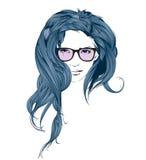 Сторона девушки красотки на белой предпосылке Стоковая Фотография