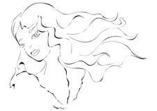 Сторона девушки  иллюстрация штока