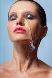Сторона женщины в воде Стоковые Изображения