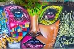 Сторона женщины в 13 кварталах в Medellin Стоковое Фото
