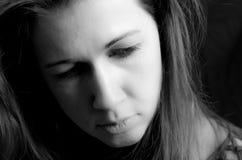 Сторона женщины серьезная Стоковое Изображение