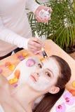 Сторона женщины с курортом косметики косметики стоковые изображения rf