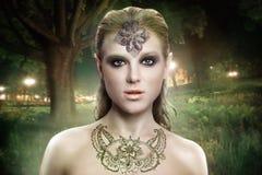 Сторона женщины фотомодели красоты Стоковые Изображения RF