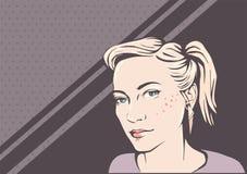 Сторона женщины иллюстрация штока
