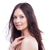 Сторона женщины beautyl с составом Стоковое Фото