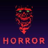 Сторона зомби гнева в красном цвете также вектор иллюстрации притяжки corel Стоковое Фото
