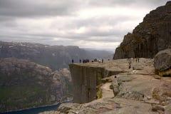 Сторона известного утеса амвона в Rogaland, Норвегии Стоковые Фотографии RF