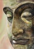 Сторона изображения Будды Таиланда Стоковая Фотография