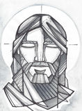 Сторона Иисуса моля Стоковое фото RF