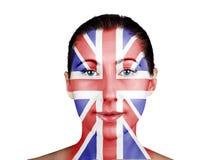Сторона как великобританский флаг Стоковые Изображения