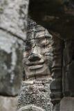 Сторона камня Bayon, Angkor Wat, Камбоджа Стоковые Фото