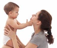 Сторона касающей матери младенца. Стоковая Фотография RF