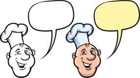 Сторона кашевара шеф-повара шаржа усмехаясь Стоковая Фотография RF
