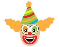 Сторона клоуна, значка также вектор иллюстрации притяжки corel Стоковая Фотография