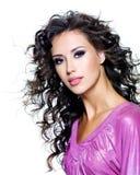 Сторона красивейшей женщины брюнет Стоковые Фото