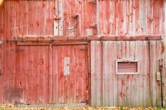 сторона красного цвета амбара Стоковое Изображение RF