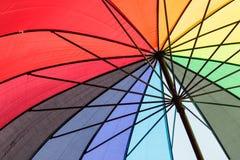 Сторона красочного зонтика внутренняя Стоковое Фото