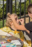 Сторона крася ребенка на Pumpkinfest Стоковые Изображения RF