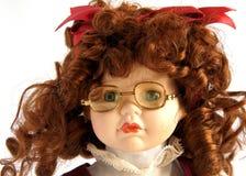 Сторона куклы фарфора с зрелищами Стоковая Фотография RF