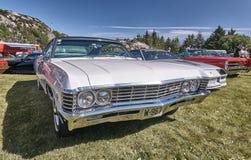 Сторона классических автомобилей на выставке автомобилей Стоковое Изображение