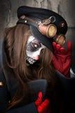 Сторона клоуна paiting Стоковая Фотография RF
