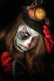 Сторона клоуна paiting Стоковая Фотография