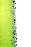 сторона макроса бутылки пива изолированная Стоковые Фотографии RF