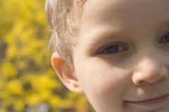 сторона мальчика стоковое изображение rf