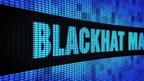 Сторона маркетинга Blackhat отправляет SMS перечислению доски знака дисплея с плоским экраном стены СИД видеоматериал