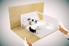 Сторона миниатюры офиса Стоковая Фотография