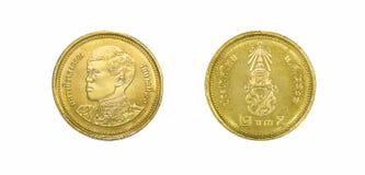 Сторона монеток, бата 2, передних и задних Таиланда новая стоковое фото