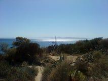 Сторона моря Афин riviera на лете стоковое фото rf