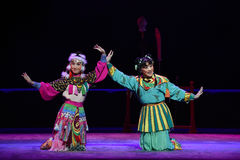 """Сторона мухы - мимо - сторона -  teenager†Пекина Opera""""Yue детей Стоковые Фотографии RF"""
