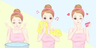 Сторона мытья женщины бесплатная иллюстрация