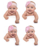 Сторона младенца улыбки Стоковые Изображения RF