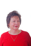 сторона ожерелья золота dc красная ся к женщине Стоковое Изображение