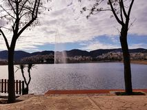 Сторона озера стоковое фото rf