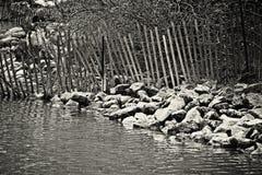 Сторона (озеро черно-белое) Стоковые Изображения RF