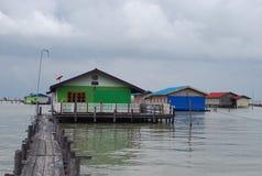 Сторона домов на море Стоковая Фотография