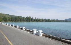 Сторона дороги вдоль пляжа Стоковое Изображение RF