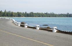 Сторона дороги вдоль пляжа Стоковое Изображение